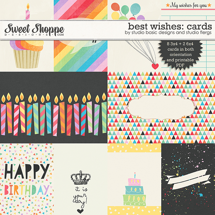 Best Wishes: CARDS by Studio Flergs & Studio Basic Designs