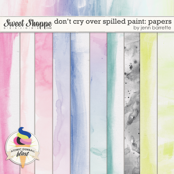 Don't Cry Over Spilled Paint Papers by Jenn Barrette