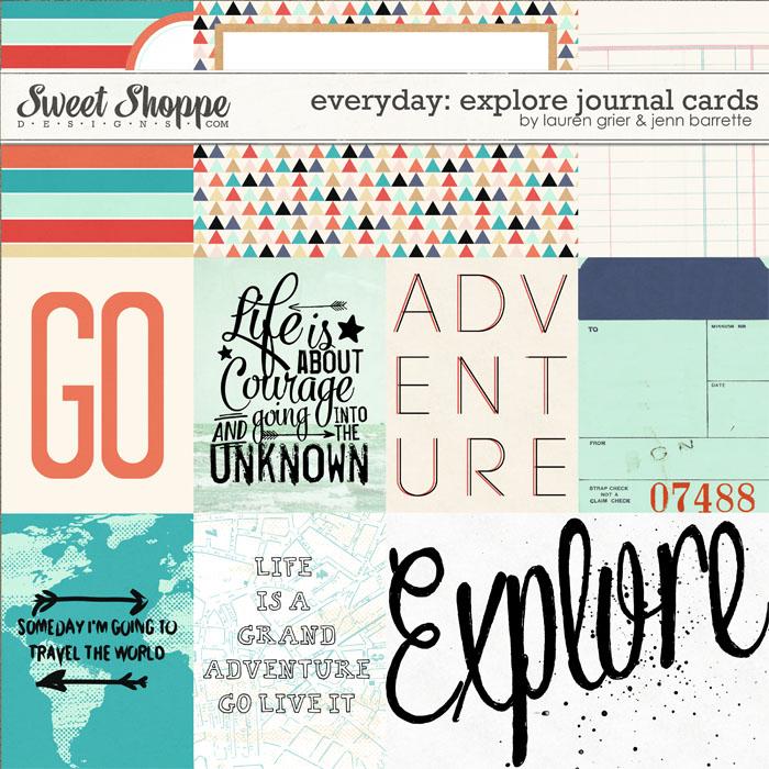 Everyday: Explore Journal Cards by Lauren Grier & Jenn Barrette