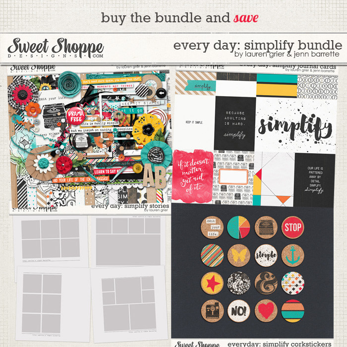 Every day: Simplify Bundle by Lauren Grier & Jenn Barrette
