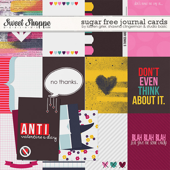 Sugar Free Journal Cards by Lauren Grier, Shawna Clingerman, and Studio Basic