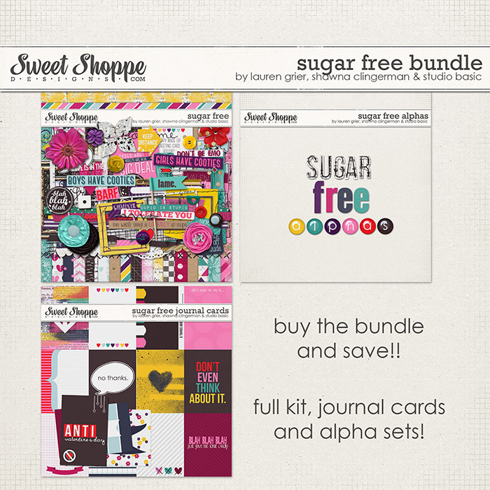 Sugar Free Bundle by Lauren Grier, Shawna Clingerman, and Studio Basic