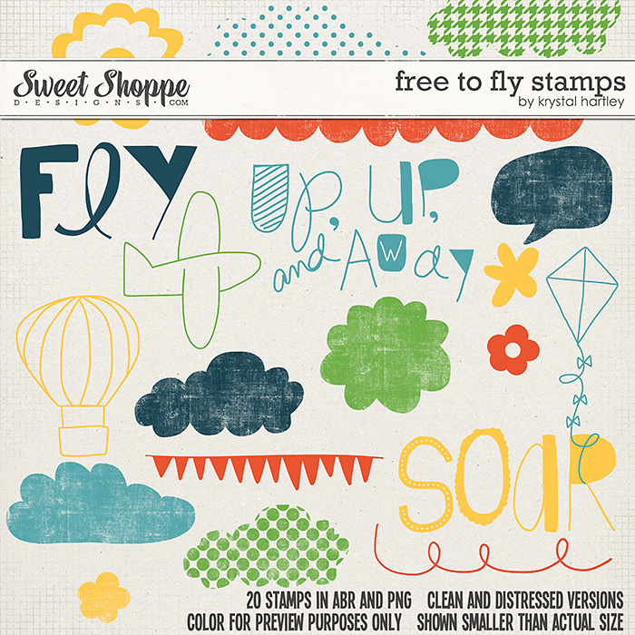 Free to Fly Digital Stamps by Krystal Hartley and Traci Reed
