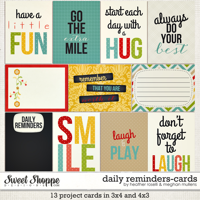 Daily Reminders: Cards by Heather Roselli & Meghan Mullens