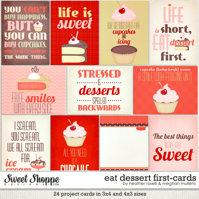 Eat Dessert First Cards by Heather Roselli and Meghan Mullens