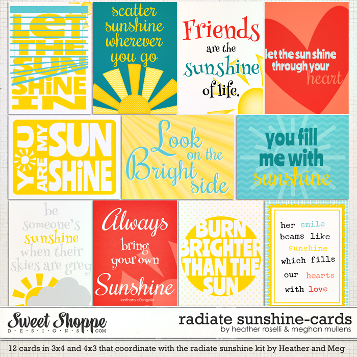 Radiate Sunshine - Cards by Heather Roselli & Meghan Mullens
