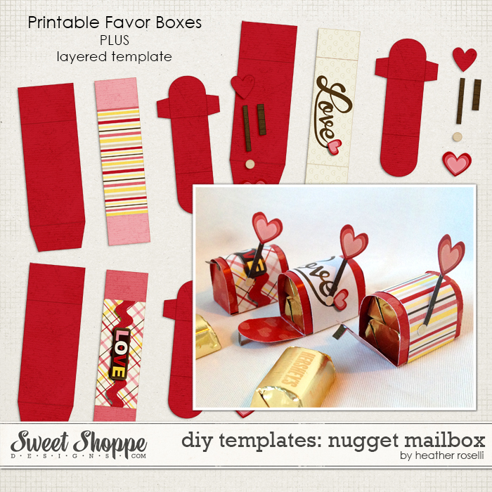 DIY Templates: Nugget Mailbox by Heather Roselli