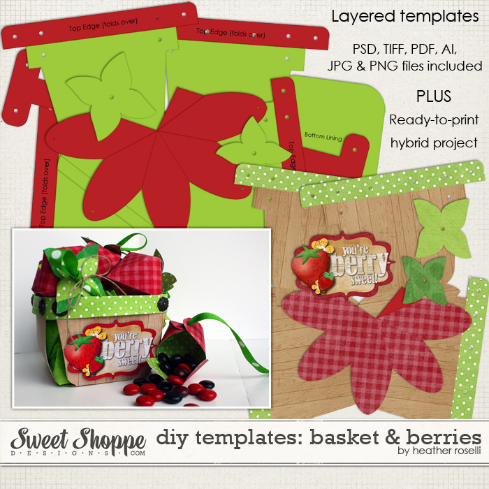 DIY Printable Templates: Basket and Berries by Heather Roselli