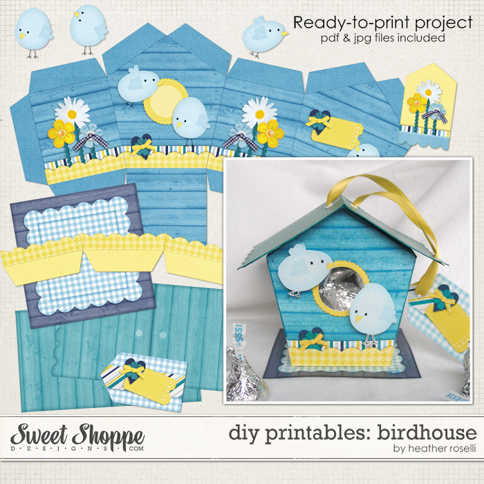 DIY Printables: Birdhouse by Heather Roselli