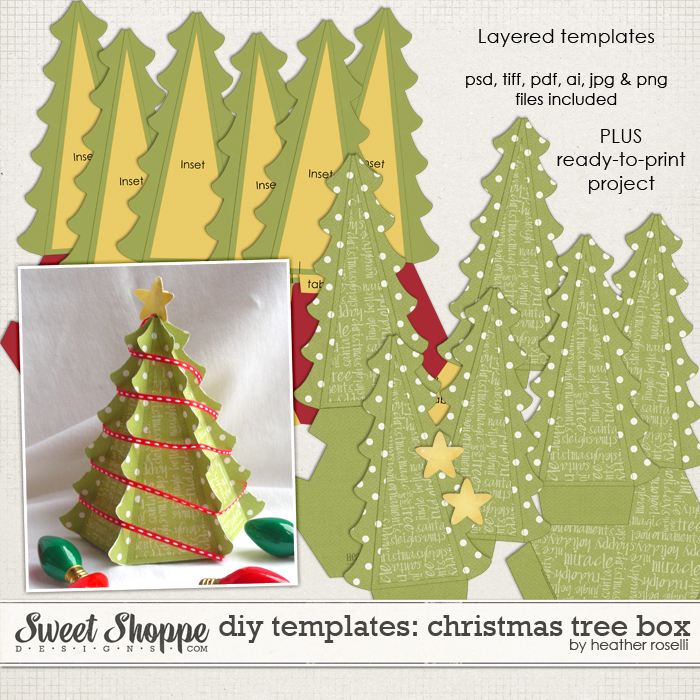 diy printable templates christmas tree box by heather roselli - Christmas Tree Boxes