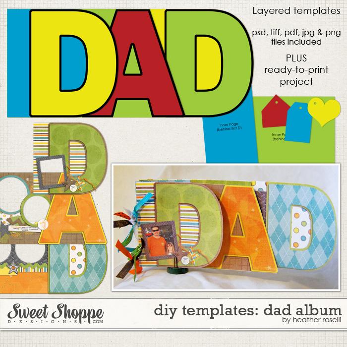 DIY Templates: Dad Album by Heather Roselli