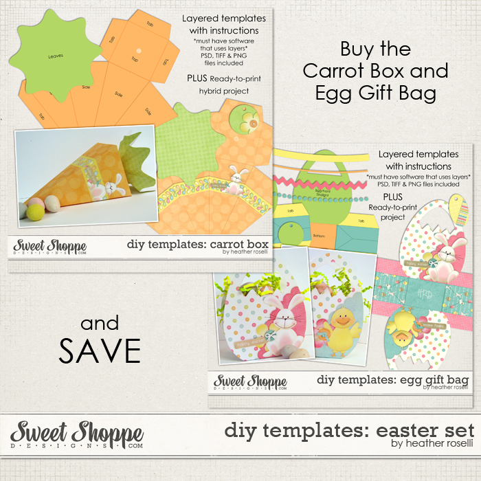 DIY Printable Templates: Easter Set by Heather Roselli