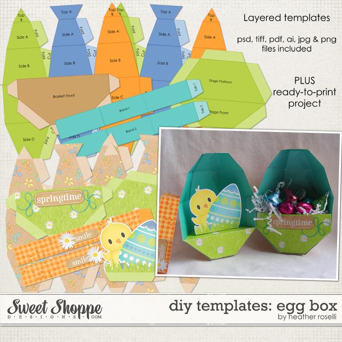 DIY Printable Templates: Egg Box by Heather Roselli