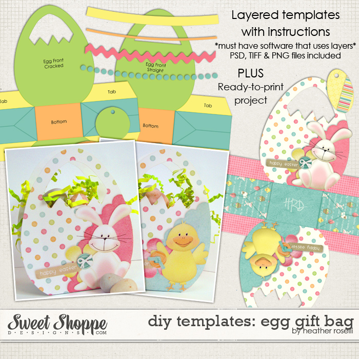 DIY Printable Templates: Egg Gift Bag by Heather Roselli