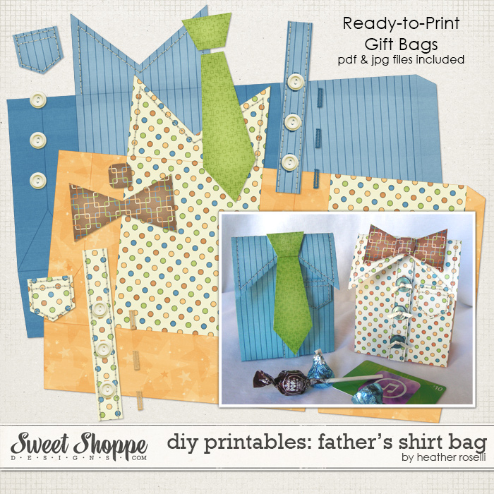 DIY Printables: Father's Shirt Bag by Heather Roselli