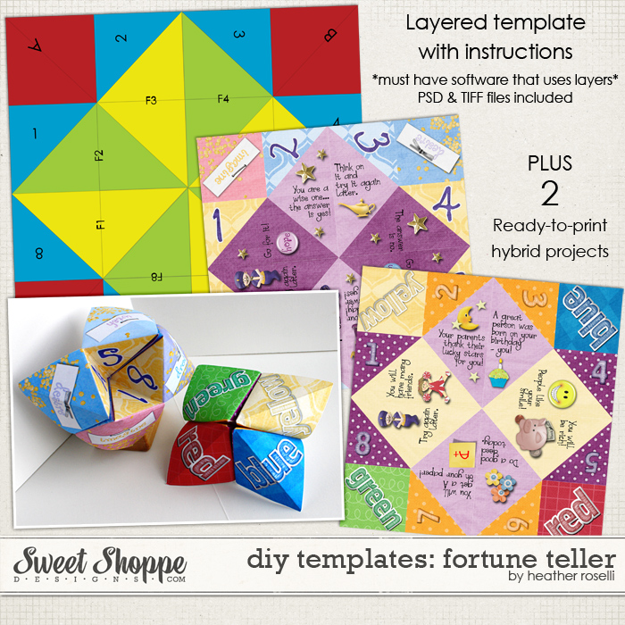 DIY Printable Templates: Fortune Teller by Heather Roselli