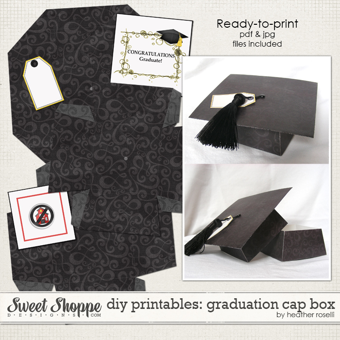 DIY Printables: Graduation Cap Box by Heather Roselli