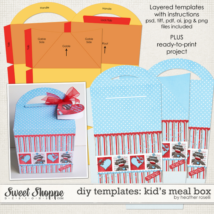 DIY Printable Templates: Kid's Meal Box by Heather Roselli