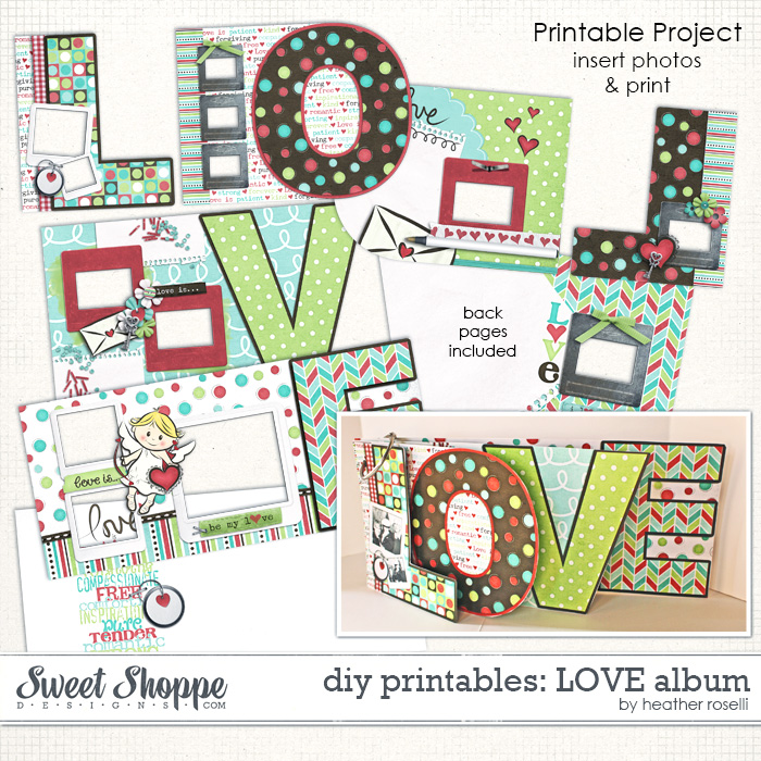 DIY Printables: LOVE Album by Heather Roselli