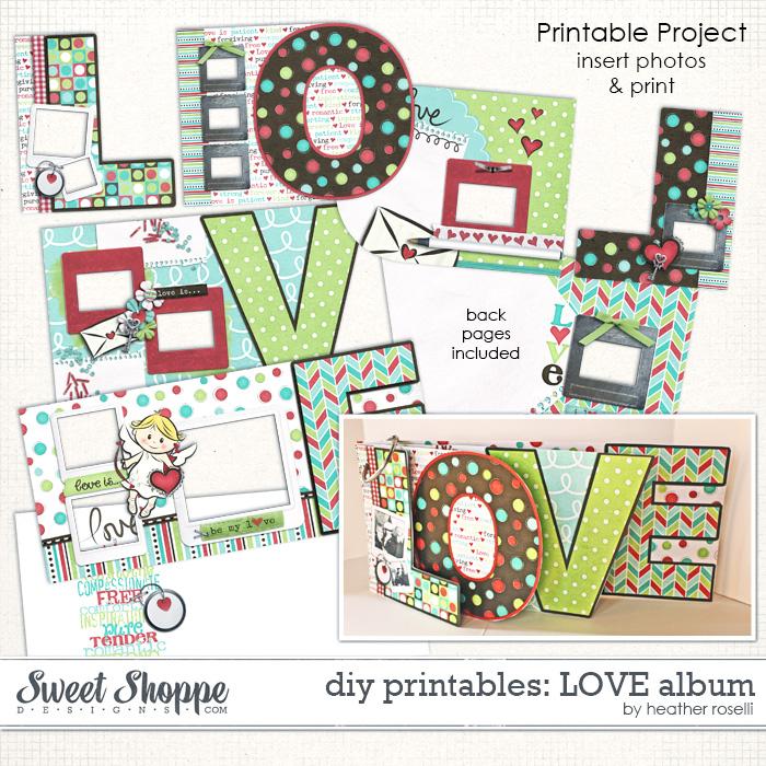 DIY Printables: LOVE Album by Heather Roselli