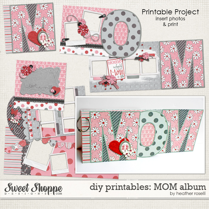 DIY Printables: MOM Album by Heather Roselli