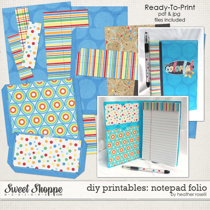 DIY Printables: Notepad Folio by Heather Roselli