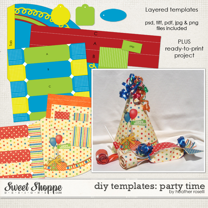 DIY Printable Templates: Party Time by Heather Roselli