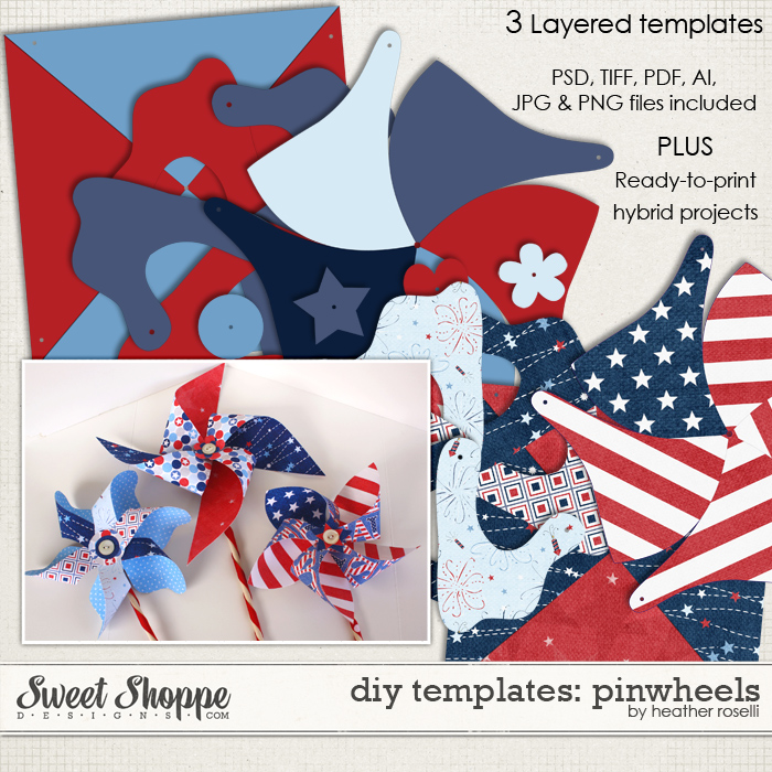 DIY Printable Templates: Pinwheels by Heather Roselli