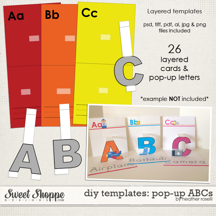 DIY Printable Templates: Pop-Up ABCs by Heather Roselli