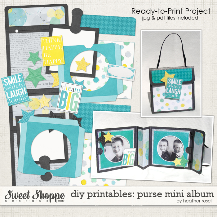 DIY Printables: Purse Mini Album by Heather Roselli