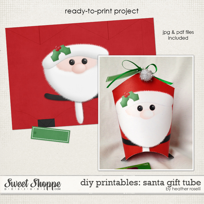 DIY Printables: Santa Gift Tube by Heather Roselli