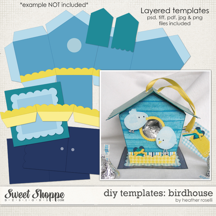 DIY Templates: Birdhouse by Heather Roselli