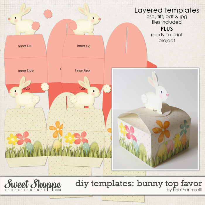 DIY Templates: Bunny Top Favor by Heather Roselli