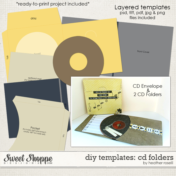 DIY Templates: CD Folders by Heather Roselli