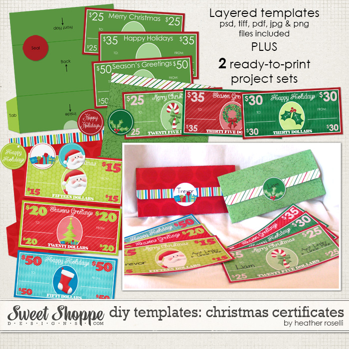 DIY Templates: Christmas Certificates by Heather Roselli