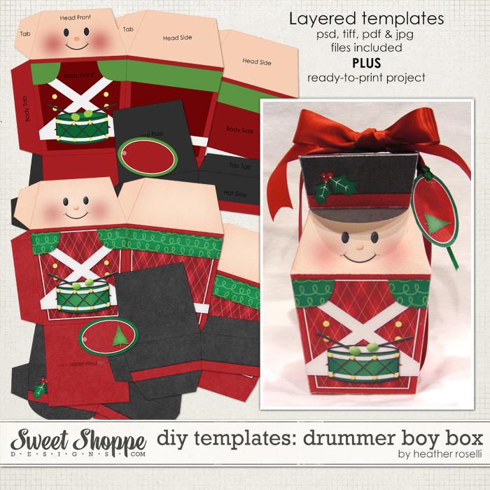 DIY Templates: Drummer Boy Box by Heather Roselli