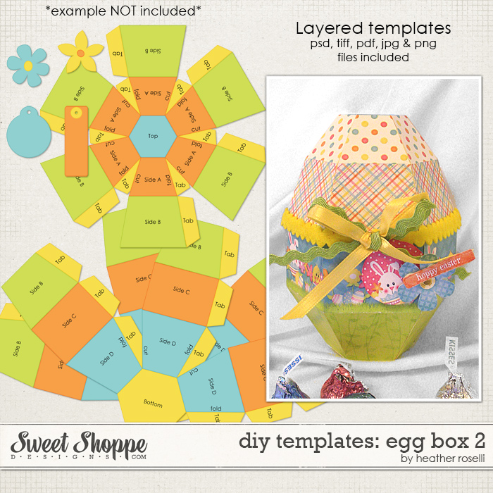DIY Templates: Egg Box 2 by Heather Roselli