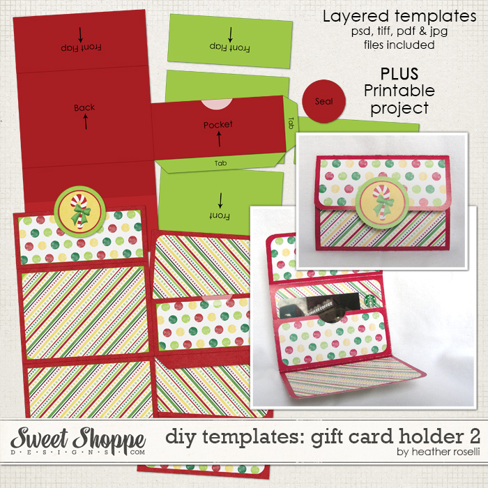 DIY Templates: Gift Card Holder 2 by Heather Roselli