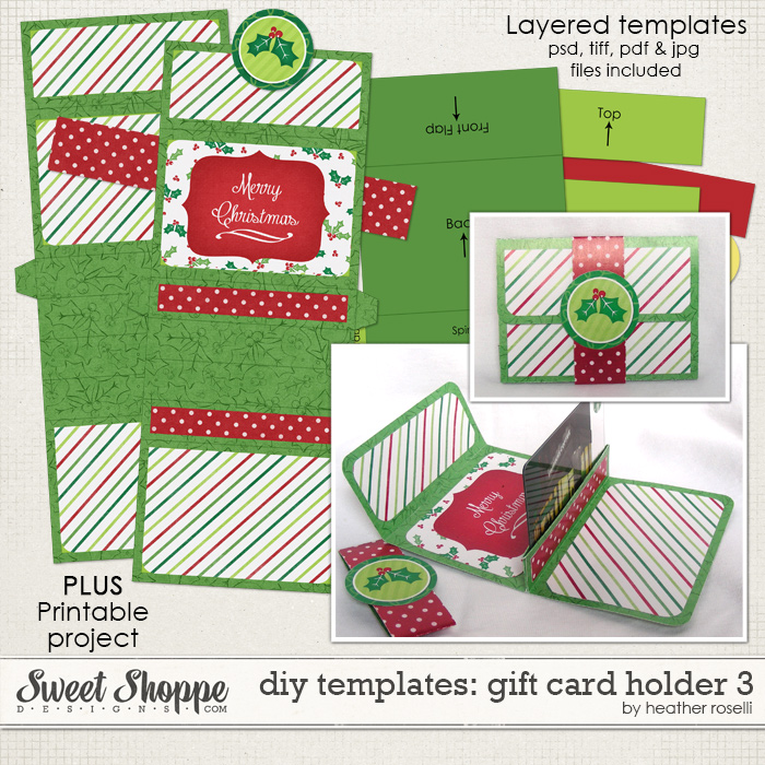 DIY Templates: Gift Card Holder 3 by Heather Roselli
