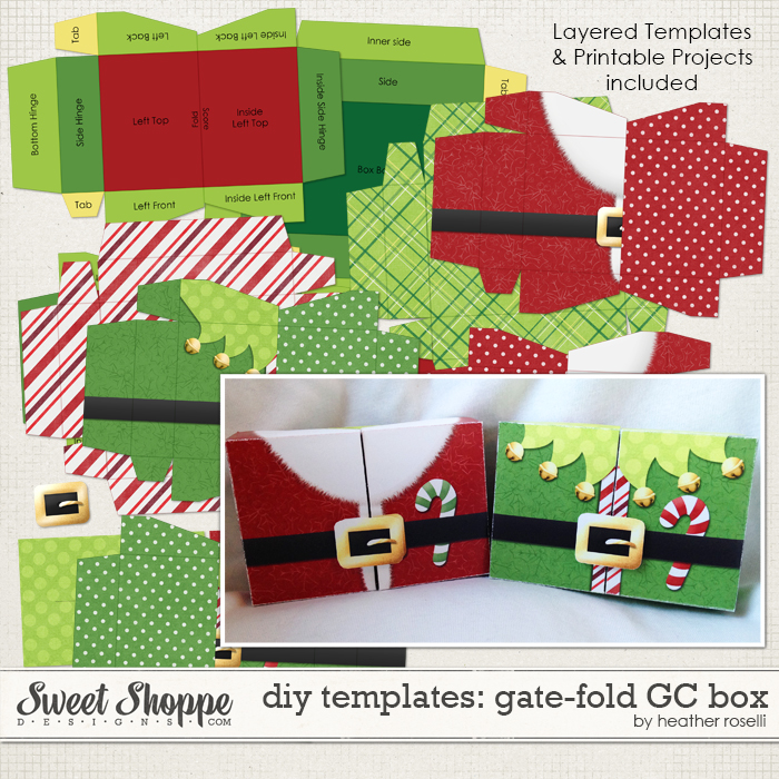 DIY Templates: Gate-Fold Gift Card Box by Heather Roselli