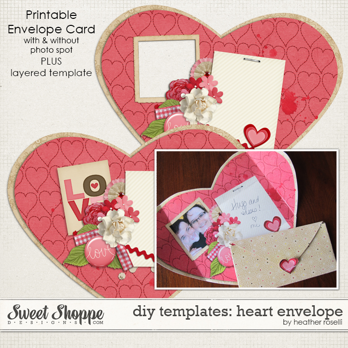 DIY Templates: Heart Envelope by Heather Roselli