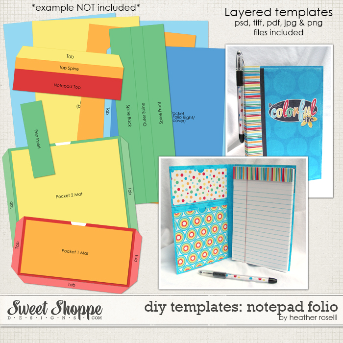 DIY Templates: Notepad Folio by Heather Roselli