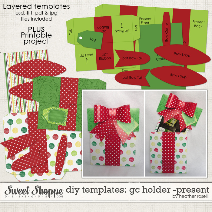 DIY Templates: Gift Card Holder - Present by Heather Roselli