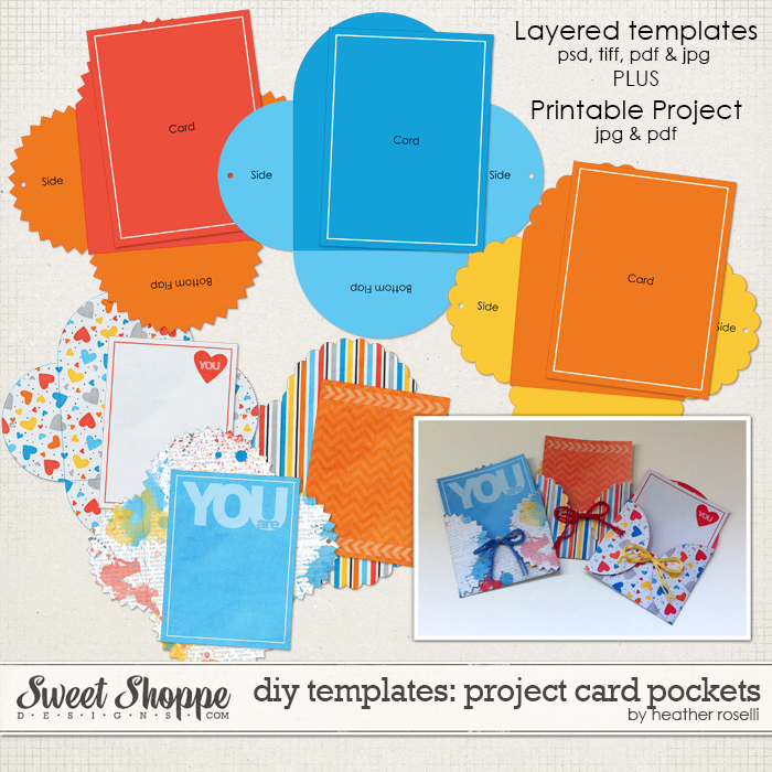 DIY Templates: Project Card Pockets by Heather Roselli