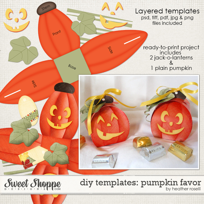 DIY Templates: Pumpkin Favor by Heather Roselli