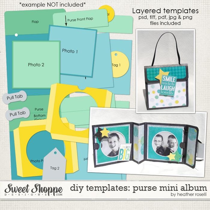 DIY Templates: Purse Mini Album by Heather Roselli