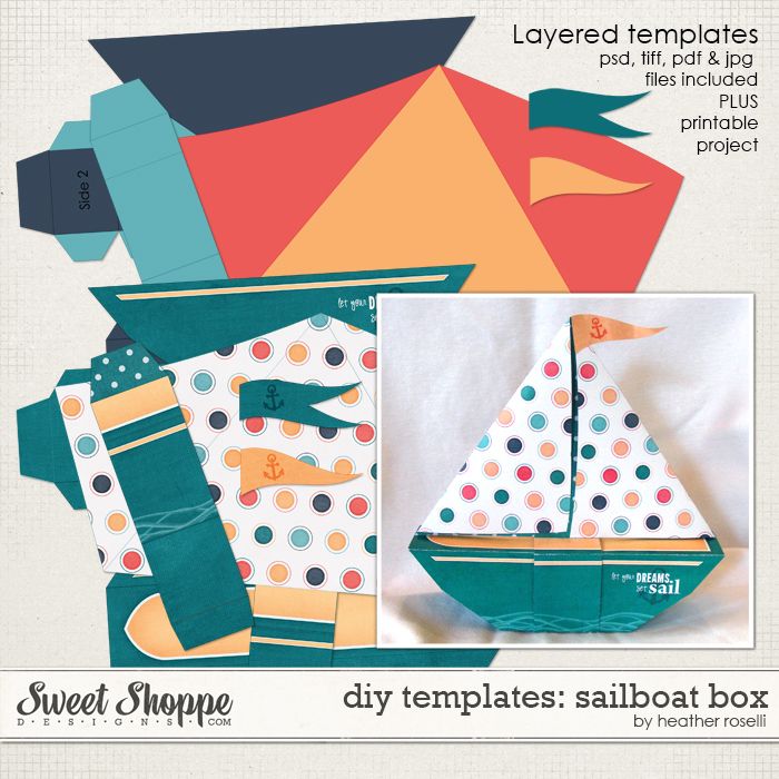 DIY Templates: Sailboat Box by Heather Roselli