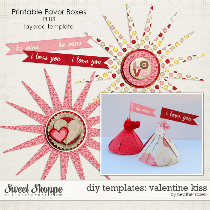 DIY Templates: Valentine Kiss by Heather Roselli