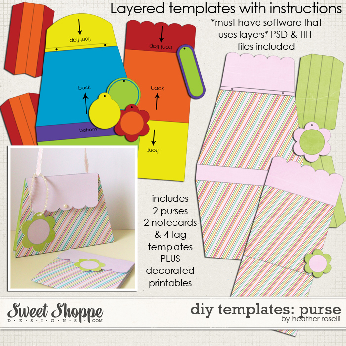 DIY Printable Templates: Purse by Heather Roselli