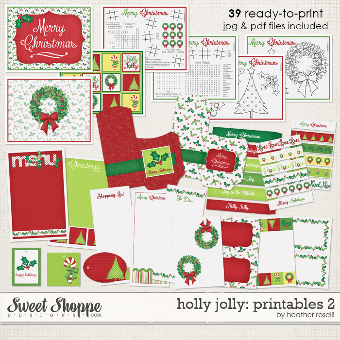 Holly Jolly: Printables 2 by Heather Roselli